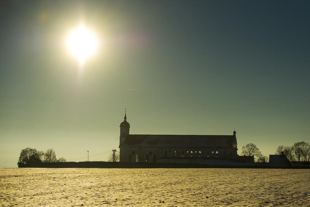Sonnenaufgang beim Kloster Oberelchingen